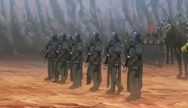 少ない弓兵隊