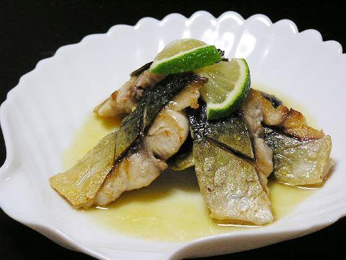 鯖のオリーブオイル焼(カボス風味)