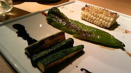 本日の野菜ステーキ