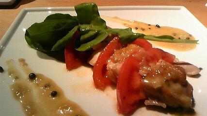鳥取大山地鶏と厳選トマトのソテー
