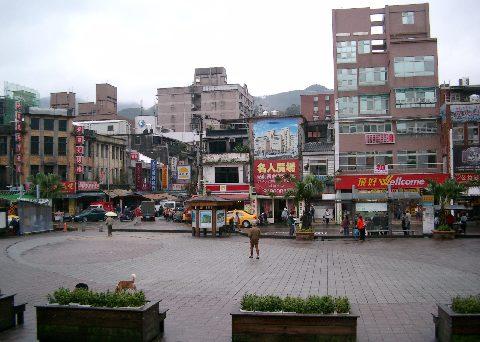 瑞芳駅前の広場