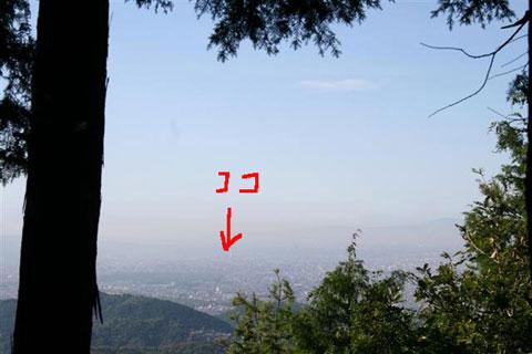 向山山頂からの展望
