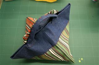 布を織る かばん