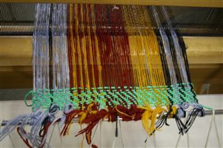 ホームスパン織り準備