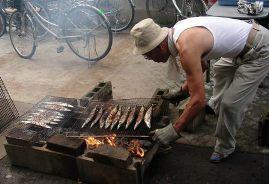 秋刀魚焼き方