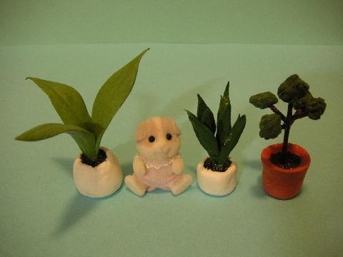 粘土で小物と植物12