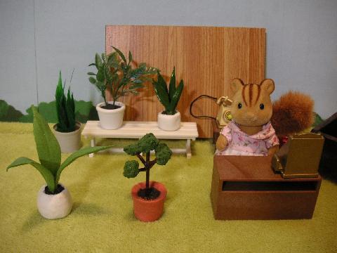 粘土で小物と植物13