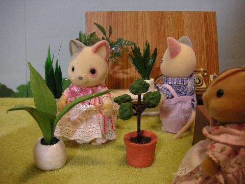 粘土で小物と植物15