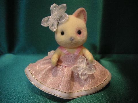 女の子ピンクドレス1