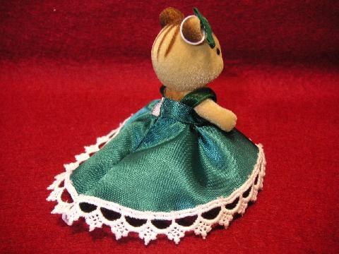 女の子のドレス金・緑4