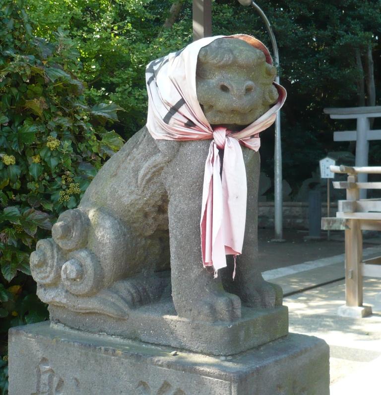 小動神社狛犬吽