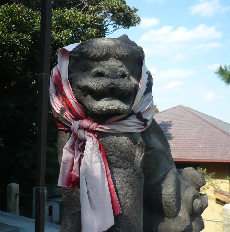 小動神社狛犬阿