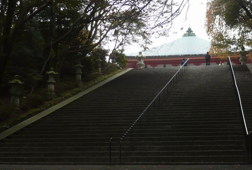 阿弥陀堂への階段