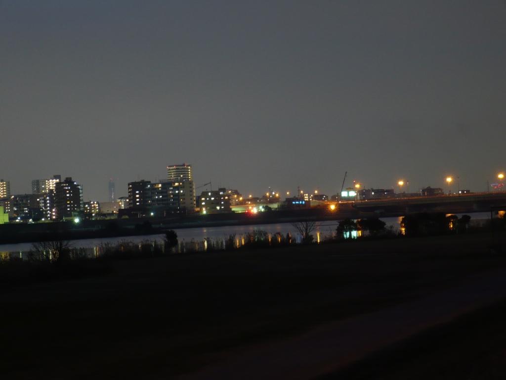 暮れなずむ江戸川