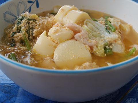 タイすき丼卵豆腐入り