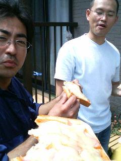 昼飯のピザトースト♪