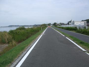 きれいなサイクリングロード