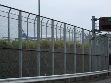 空港内を突っ切る
