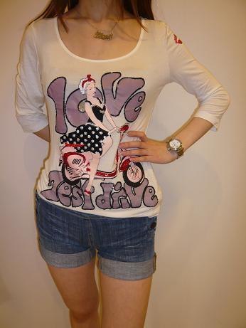 LOVE SEX バイク Tシャツ