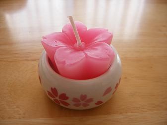 桜のキャンドル