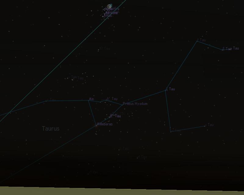 2007年11月24日18時の地球から見た月