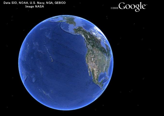 晴れの海から見た地球3