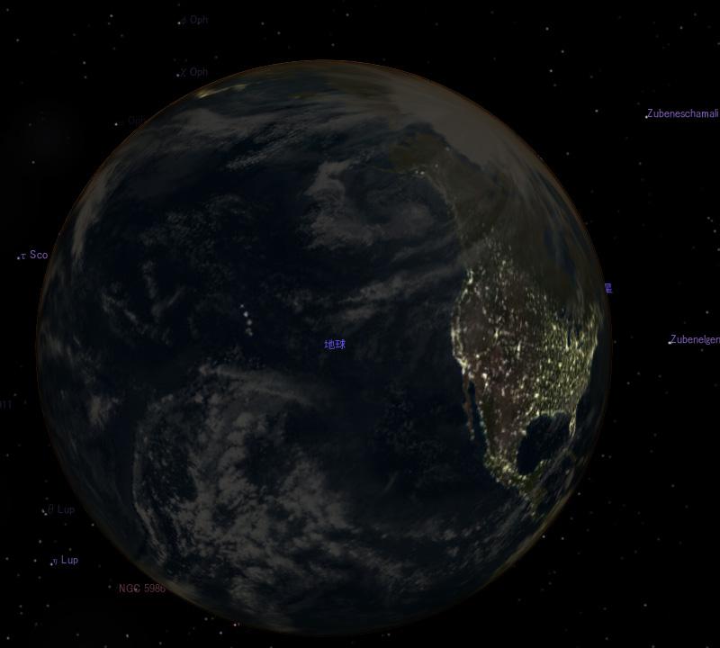 晴れの海から見た地球2