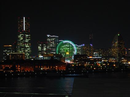 横浜・大桟橋からの夜景
