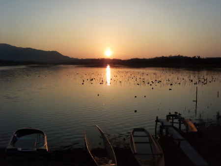 『ラムサール条約湿地』佐潟の夕日