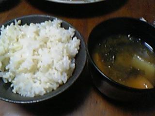 ご飯&味噌汁