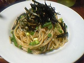 キノコと山菜の和風パスタ