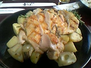 06みなと祭り 地鶏のグリルとポテトとレンコンのロースト