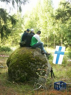 森の中の観戦