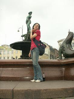 私と同名の銅像があったので記念にパチリ