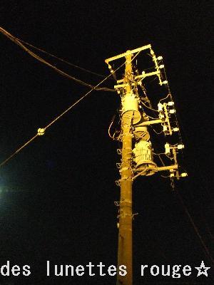 ライトアップな電信柱(笑)