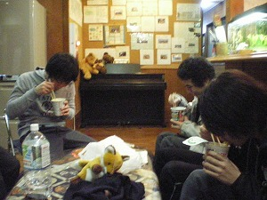 09春合宿 夜食