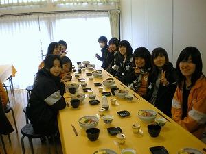 09春合宿 ご飯