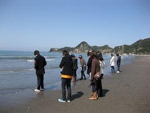 09春合宿 岩井海岸