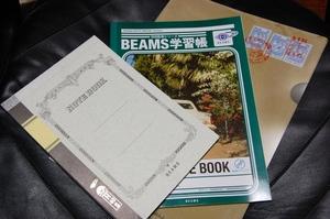 BEAMS×セブンイレブン ノート2冊とクリアファイルのセット