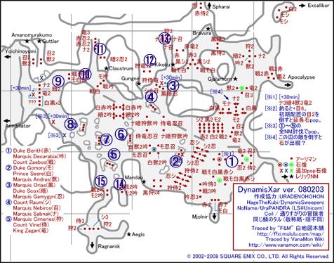 裏ザルカの地図です、番号とか・・・またやり直しかな?