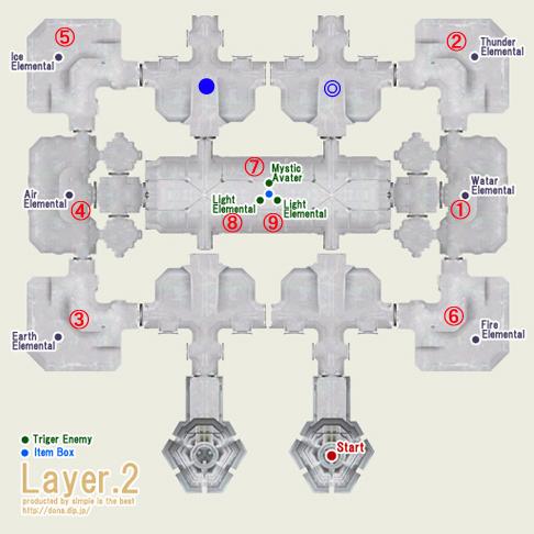 テメナス中央塔2階の地図です^^