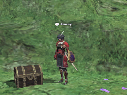 キャンプ地に宝箱がぽつーーん・・カギがありません!