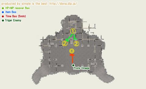 オメガの棲家の地図です!