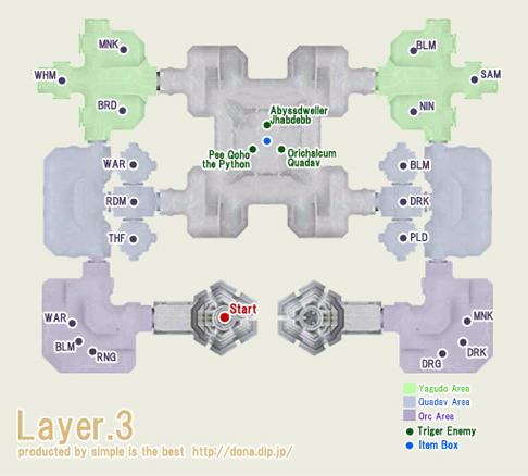 テメナス中央塔3階の地図です^^