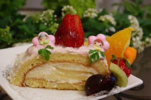 桃のムースケーキ2
