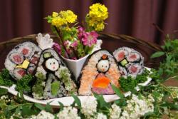 お雛様 飾り寿司