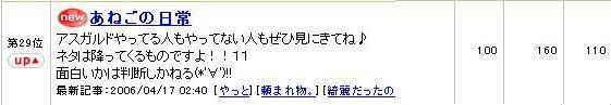 17日のFC2ブログらんきんg