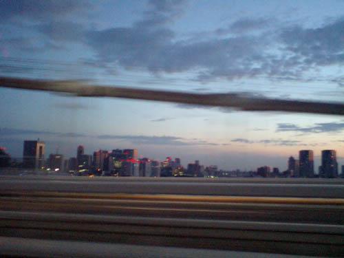 首都高ドライブで一番キレイだと思う朝のレインボーブリッジ