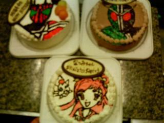 3つのケーキ