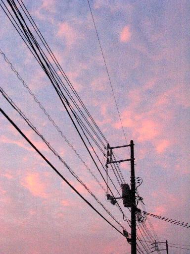 2005年8月25日 近所での夕焼け空
